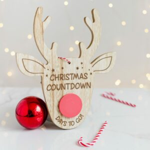Reindeer Christmas Countdown Sign