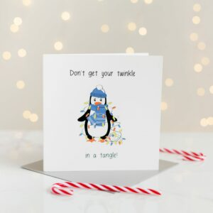 Don't Get Your Twinkle In A Tangle Christmas Card
