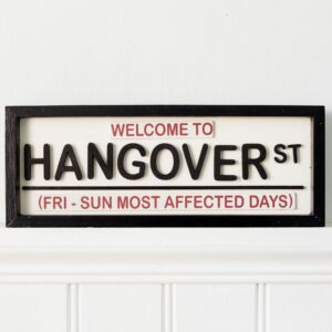 Welcome To Hangover Street Hanging Sign