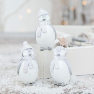 Standing Penguins With Winter Hats