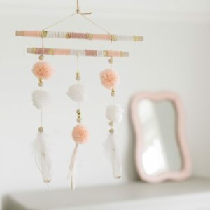 Pom Pom & Feather Hanging Decoration
