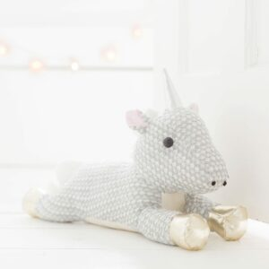 Grey Sparkly Unicorn Doorstop