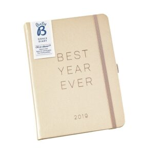 Busy B Gold Faux Leather Goals Diary