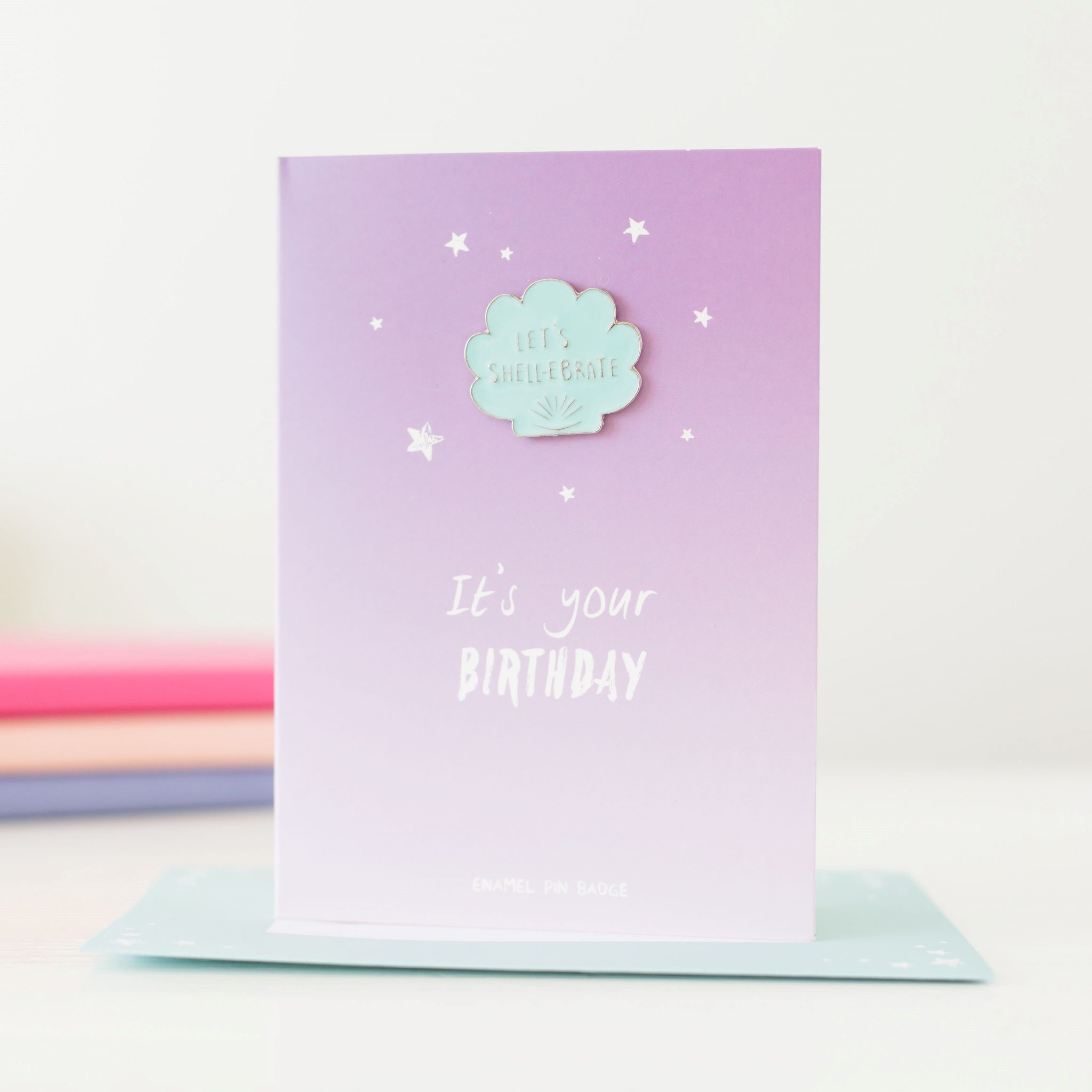 Let's Shell-ebrate Birthday Card With Pin Badge