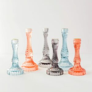 Gem Glass Candle Holder Assortment