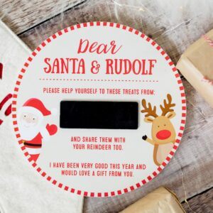 Wooden Santa Christmas Eve Plate