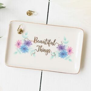 Beautiful Things Floral Trinket Tray