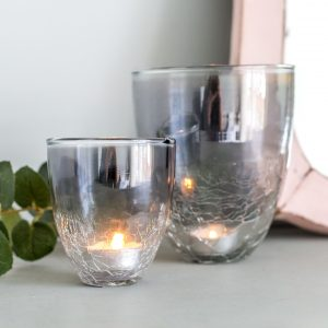 Grey Crackle Votive Assortment