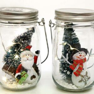 Christmas Scene LED Light Up Jar