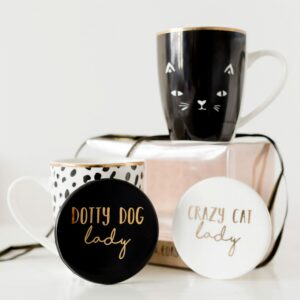 Cat or Dog Lady Mug & Coaster Set