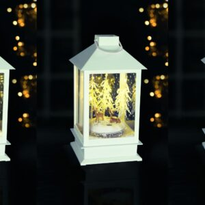Premium Christmas White Snow Blowing Lantern