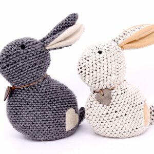 Cream Or Grey Rabbit Door Stop