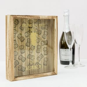 Wooden Champagne Cork Collection Box