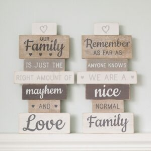 Vintage Family Slatted Sign Assortment