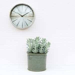 Small Silver Analogue Clock