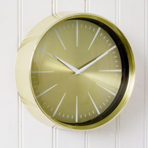 Small Gold Analogue Clock