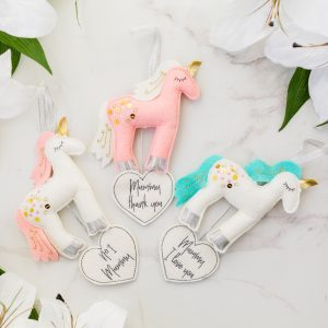 Unicorn Mum Hanging Decoration Assortment