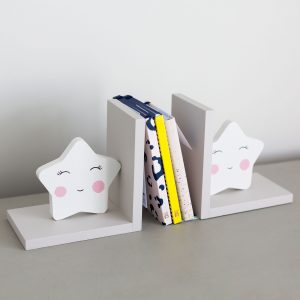 Set of Grey Star Bookends