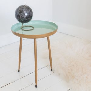 Mint Green Enamelled Side Table