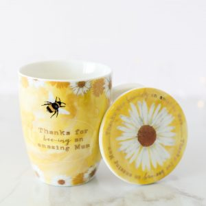 Mum Bee & Daisy Mug & Coaster Set