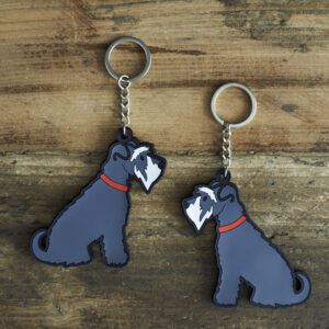 Grey Schnauzer Key-Ring