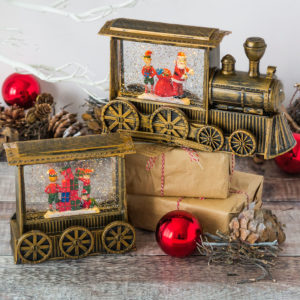 Gold Double Vintage Water Spinning Train