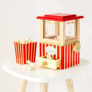 Wooden Popcorn Machine Toy