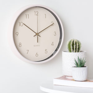 White Round Wall Clock