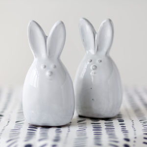 White Ceramic Rabbit Decoration