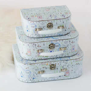 Set Of 3 Bear Suitcases