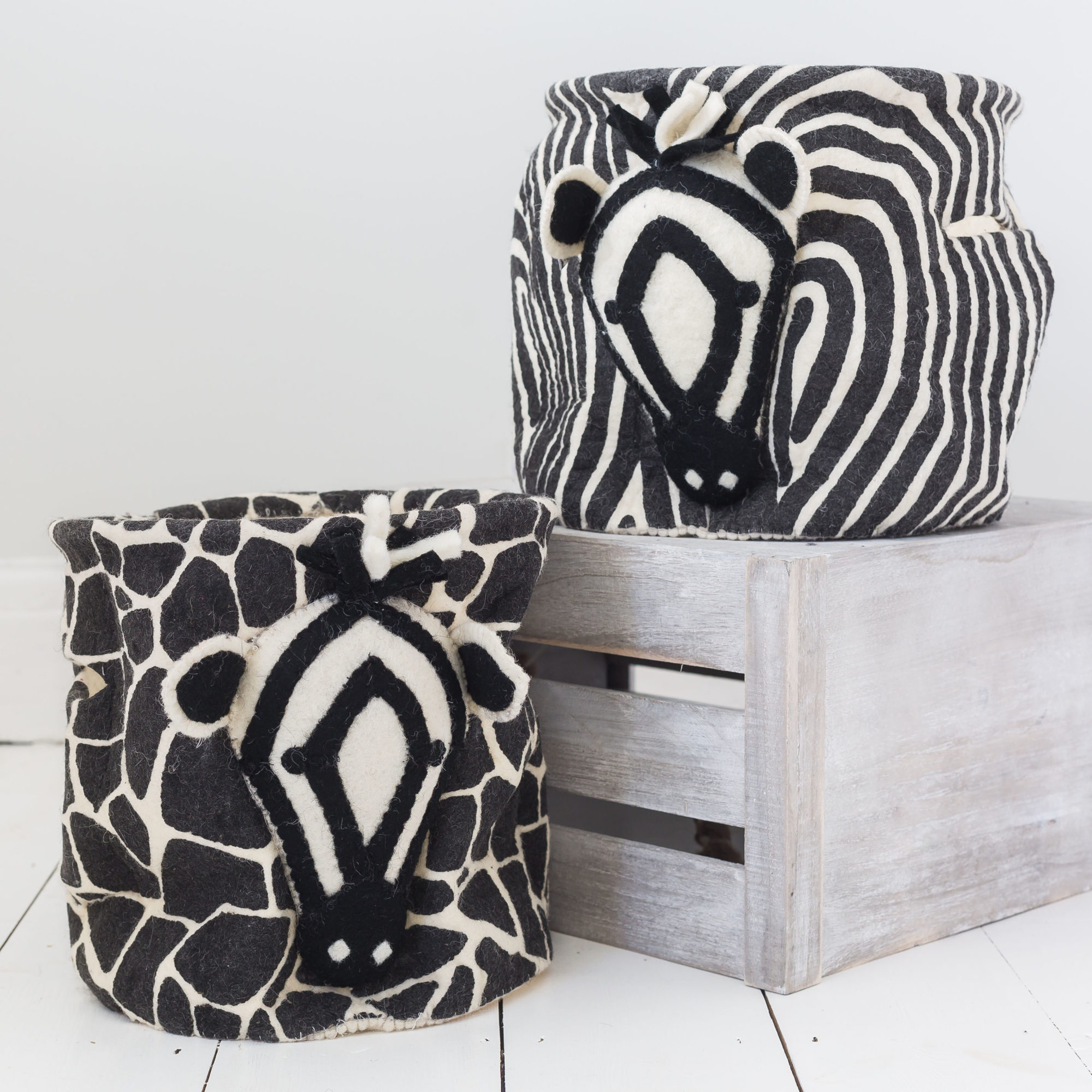 Zebra Mixed Print Storage Bag