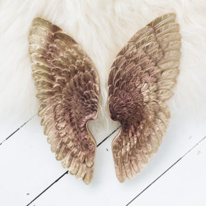 Antique Copper Angel Wings