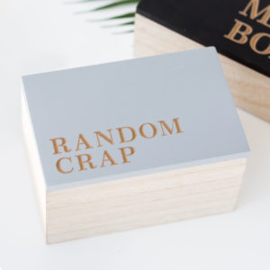 Grey Wooden Random Crap Box