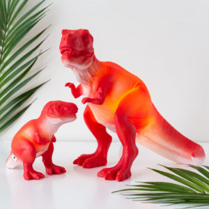 Small Red T-Rex Dinosaur Lamp