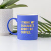 Soulmate Coffee Blue Matte Mug
