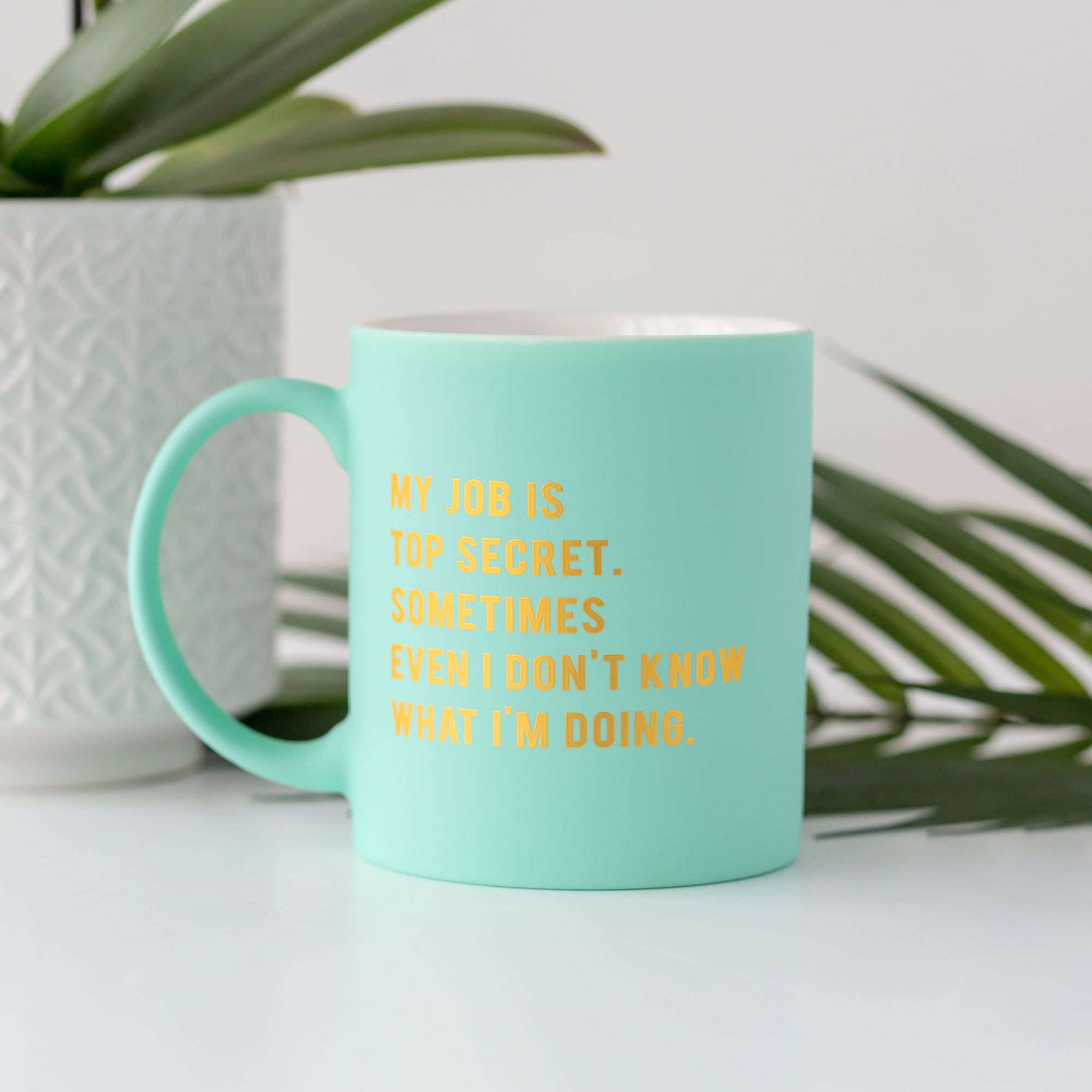 My Job is top Secret Bright Matte Green Mug