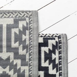 Grey Or Black Geometric Mat