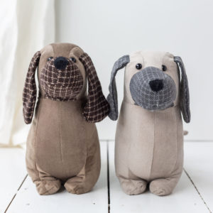 Brown Or Grey Sausage Dog Door Stop