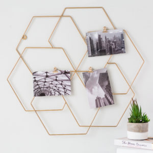 Gold Geometric Photo Holder