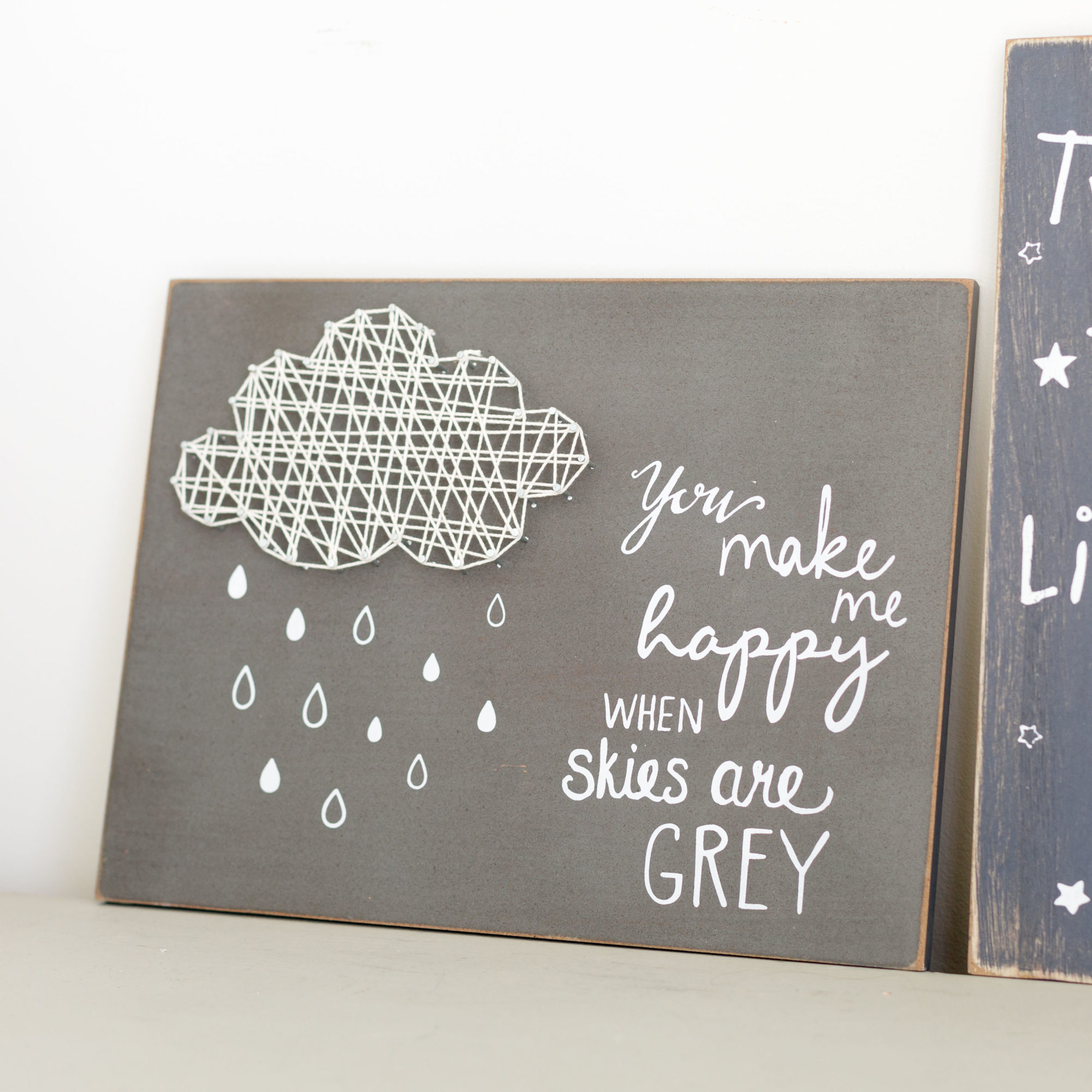 You Make Me Happy Cloud String Art Plaque
