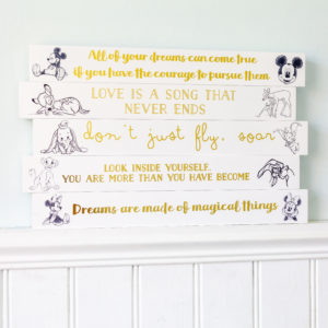 Disney Characters Wooden Block