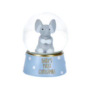 Baby's First Christmas Elephant Snow Globe