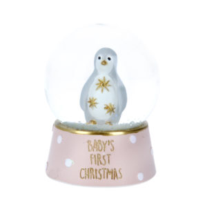 Baby's First Christmas Penguin Snow Globe