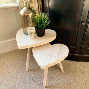 Heart Shaped Wooden Tables