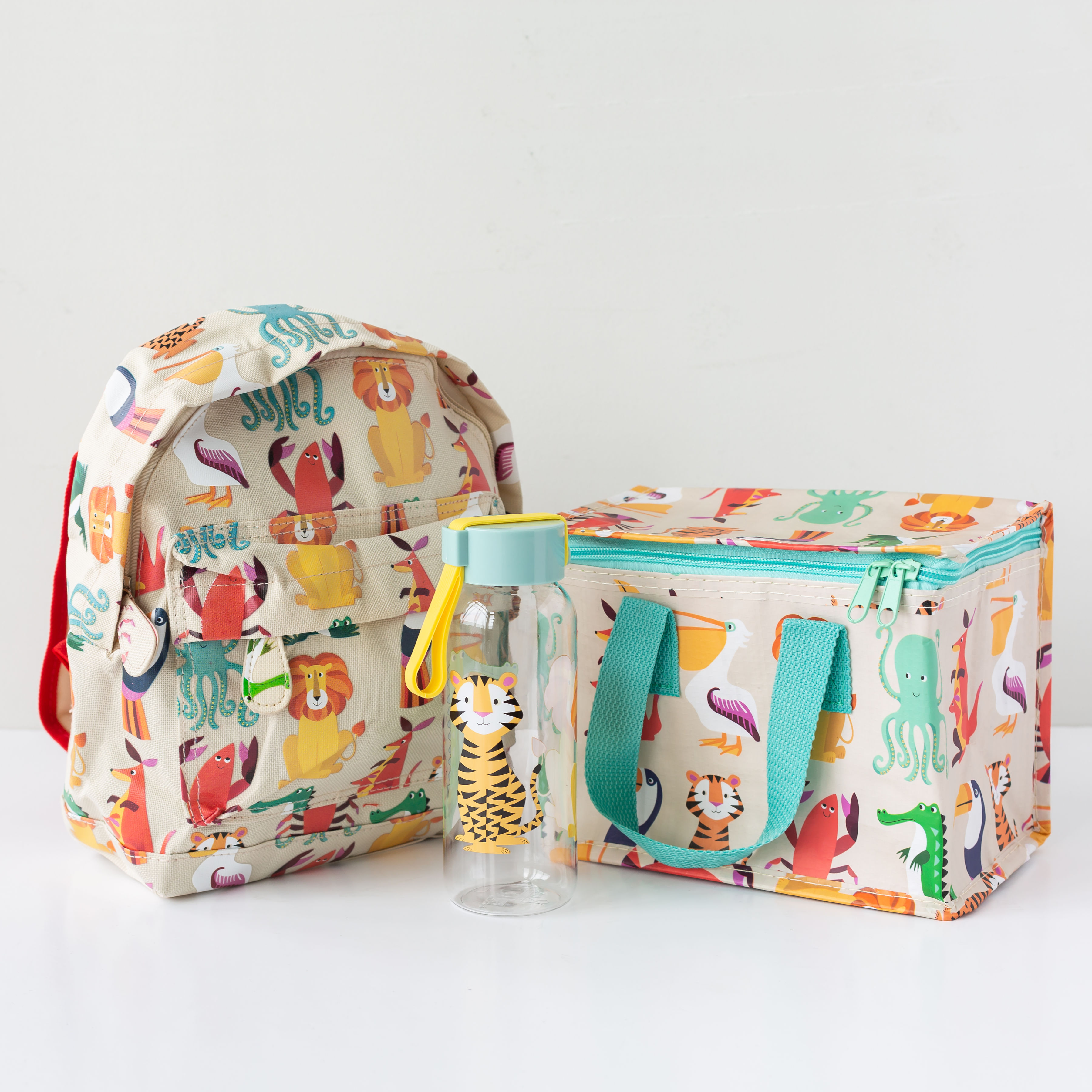 Colourful Creatures Lunch Bag & Optional Water Bottle Or Back Pack