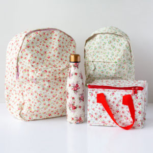 Rose Lunch Bag & Optional Water Bottle Or Back Pack