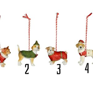 Christmas Bright Dog Decoration Assortment