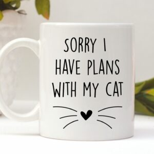 Sorry I Have Plans With My Cat Mug