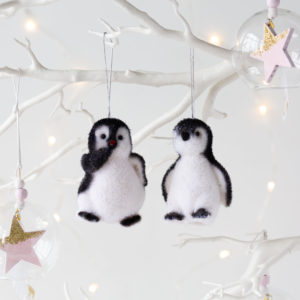Gilly & Geoff Penguin Hanging Decoration