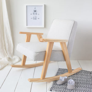 Grey Children's Rocking Chair